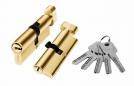 Цилиндр алюминий 90мм (ключ-завертка), 5 ключей